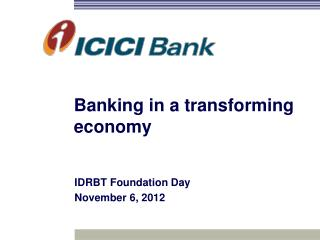 Banking in a transforming economy