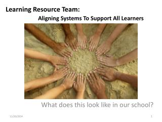 Learning Resource Team:  Aligning Systems To Support All Learners