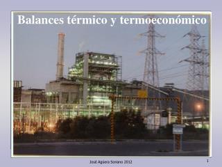 Balances térmico y termoeconómico