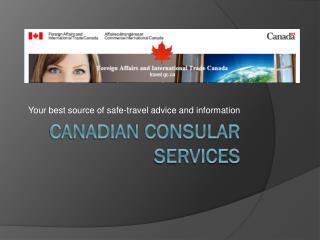 Canadian Consular Services