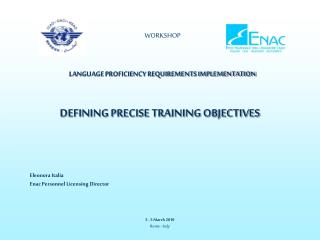 WORKSHOP LANGUAGE PROFICIENCY REQUIREMENTS IMPLEMENTATION