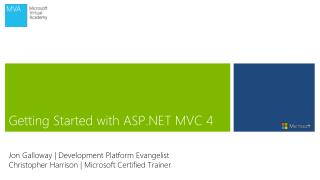 Getting Started with ASP.NET MVC 4