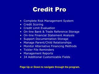 Credit Pro