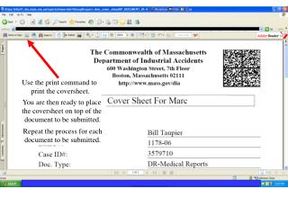 Use the print command to  print the coversheet.