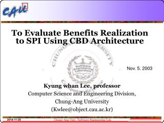 To Evaluate Benefits Realization to SPI Using CBD Architecture