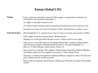 Enron Global LNG