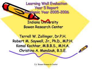 Learning Well Evaluation Year 5 Report Academic Year 2005-2006
