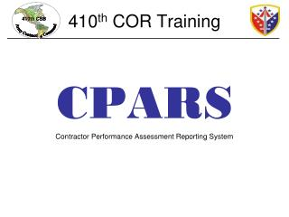410 th  COR Training