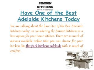 Get the best Flat Pack Kitchens in Adelaide | Simson Kitchen