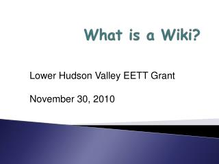What is a Wiki ?