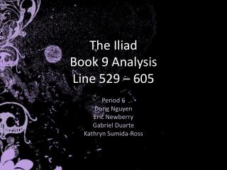 The Iliad Book 9 Analysis Line 529   605