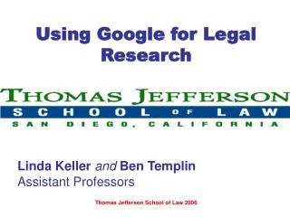 Using Google for Legal Research