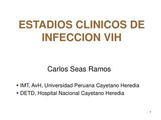 ESTADIOS CLINICOS DE INFECCION VIH