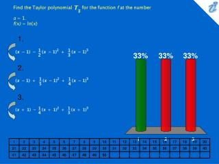 Find the Taylor polynomial {image} for the function f at the number a = 1. f(x) = ln(x)