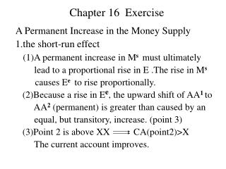 Chapter 16  Exercise
