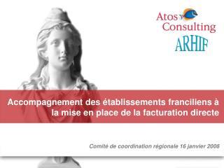 Accompagnement des établissements franciliens à la mise en place de la facturation directe