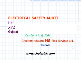 ELECTRICAL SAFETY AUDIT for XYZ Gujarat