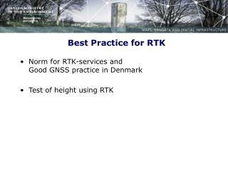 Best Practice for RTK