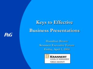 Keys to Effective Business Presentations