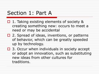 Section 1: Part A