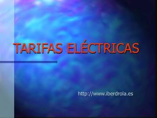 TARIFAS EL�CTRICAS