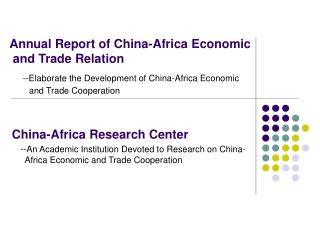China-Africa Research Center