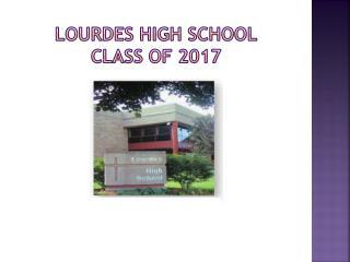 Lourdes high school Class of 2017