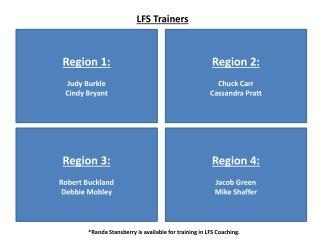 LFS Trainers