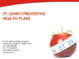 ST.JOHN'S PREVENTIVE HEALTH PLANS