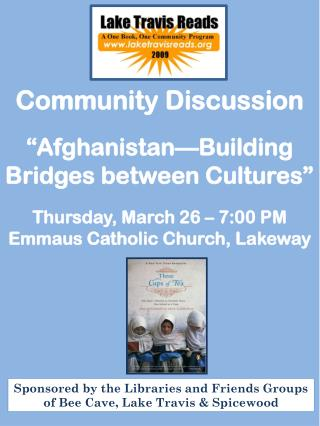 "Community  Discussion  ""Afghanistan—Building Bridges between Cultures"""