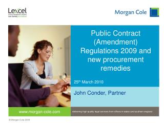 Public Contract Amendment Regulations 2009 and new procurement remedies