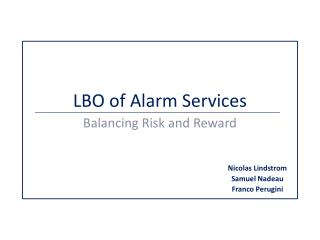 LBO of Alarm Services