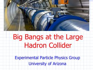 Big Bangs at the Large Hadron Collider