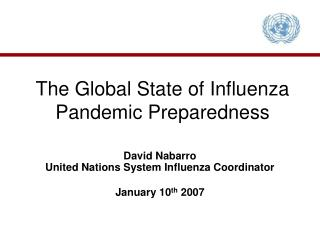The Global State of Influenza Pandemic Preparedness