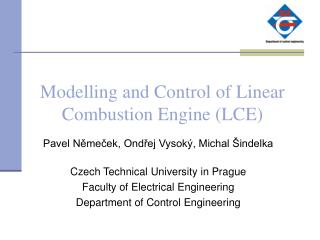 Modelling and Control of Linear Combustion Engine (LCE)