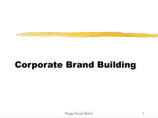 Corporate Brand Building