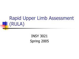Rapid Upper Limb Assessment (RULA)