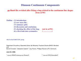 Dimuon Continuum Components