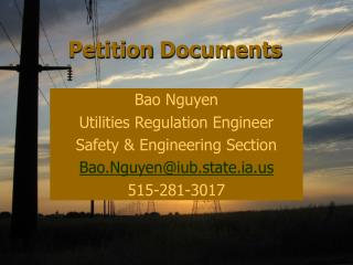Petition Documents