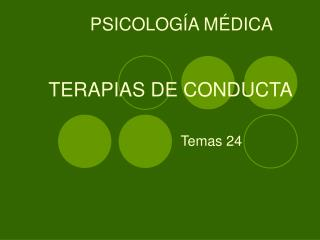 TERAPIAS DE CONDUCTA