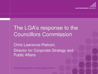 The LGA's response to the Councillors Commission