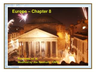 Europe – Chapter 8