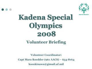 Kadena Special Olympics  2008