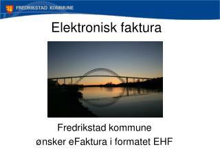 Elektronisk faktura