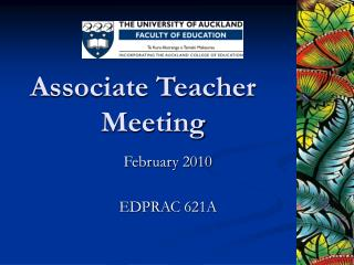 Associate Teacher    Meeting