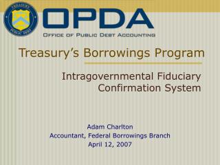 Treasury s Borrowings Program