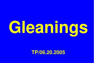 Gleanings   TP