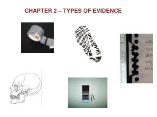 Chapter 2: Types of Evidence