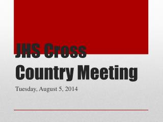 JHS Cross Country Meeting