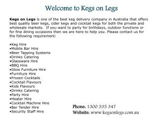 Kegs on Legs is your one-stop-Oktoberfest-shop!